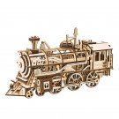 Locomotive Mechanical Gears Robotime ROKR LK701 3D Wooden Puzzle Building Blocks Toys