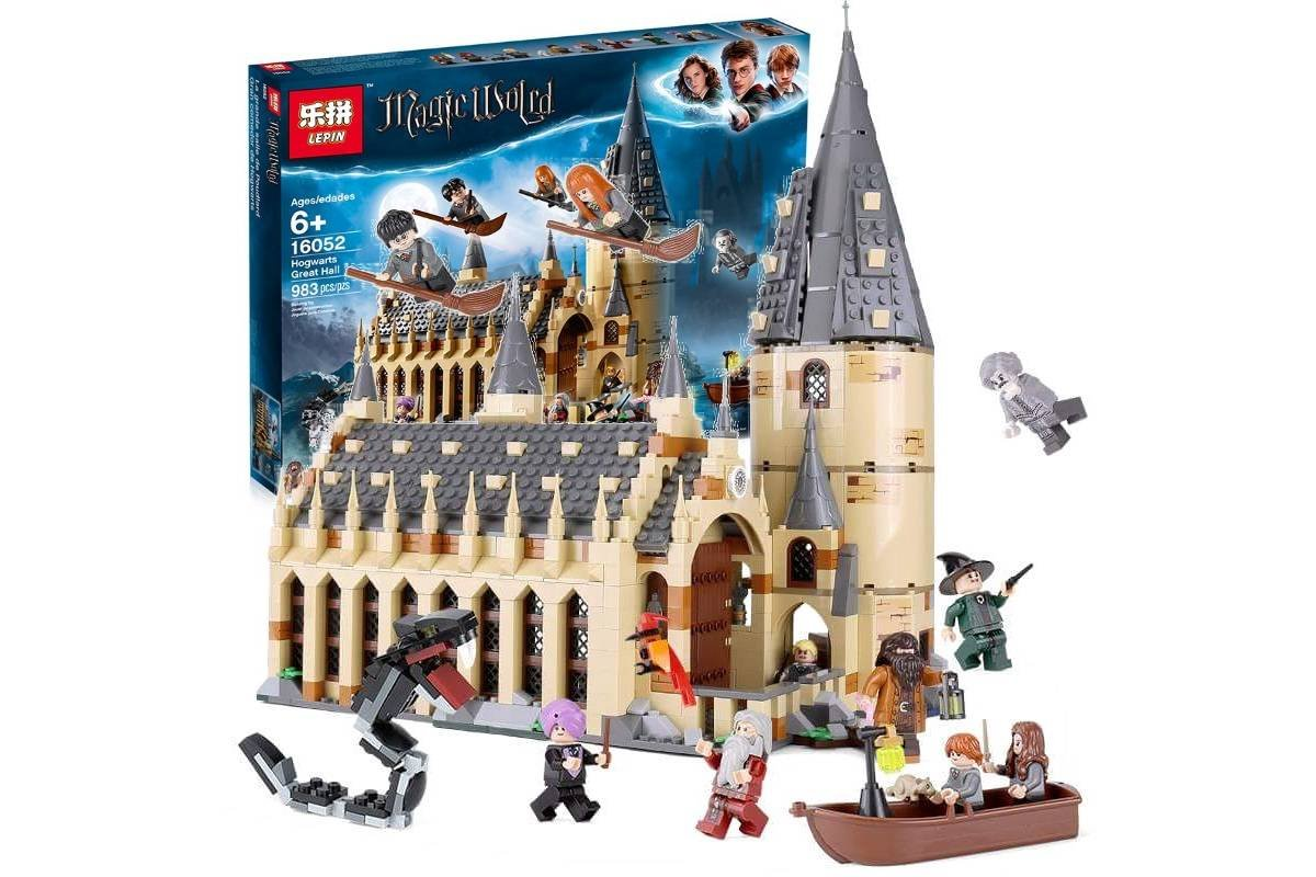 16052 Hogwarts Great Hall Harry Potter 75954 Building Lego Blocks Toys