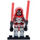 Minifigure Sith Warrior with Two Red Lightsabers Star Wars Building Lego Blocks Toys