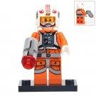 Minifigure Luke Skywalker Pilot Orange Suit Star Wars Building Lego Blocks Toys