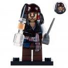 Minifigure Jack Sparrow Pirates of the Caribbean Building Lego Blocks Toys