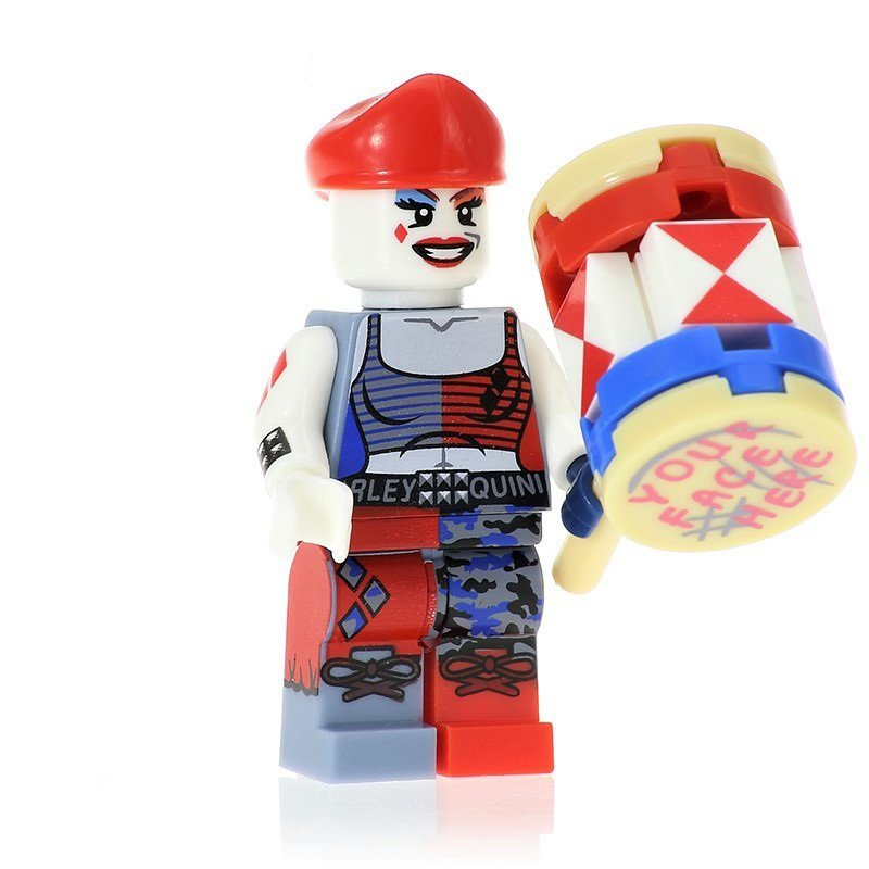 Minifigure Harley Quinn with Hammer DC Comics Super Heroes Building Lego Blocks Toys