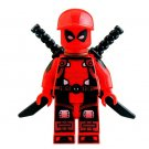 Minifigure Deadpool Red Color Marvel Super Heroes Building Lego Blocks Toys