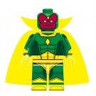 Minifigure Vision Avengers Marvel Super Heroes Building Lego Blocks Toys