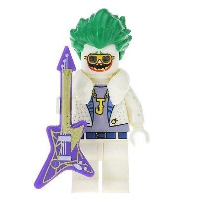 Minifigure Joker with Guitar White Suit DC Comics Super Heroes Building Lego Blocks Toys