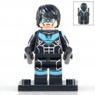 Minifigure Nightwing Black Suit DC Comics Super Heroes Building Lego Blocks Toys