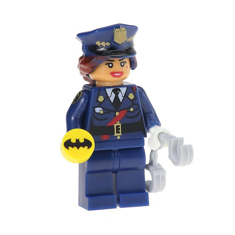 Minifigure Barbara Gordon Police Officer Batman DC Comics Super Heroes Building Lego Blocks Toys