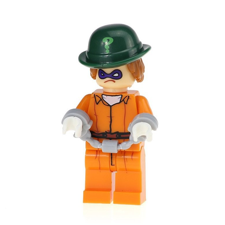 Minifigure Riddler Arkham Asylum from Batman Movie DC Comics Super Heroes Building Lego Blocks Toys