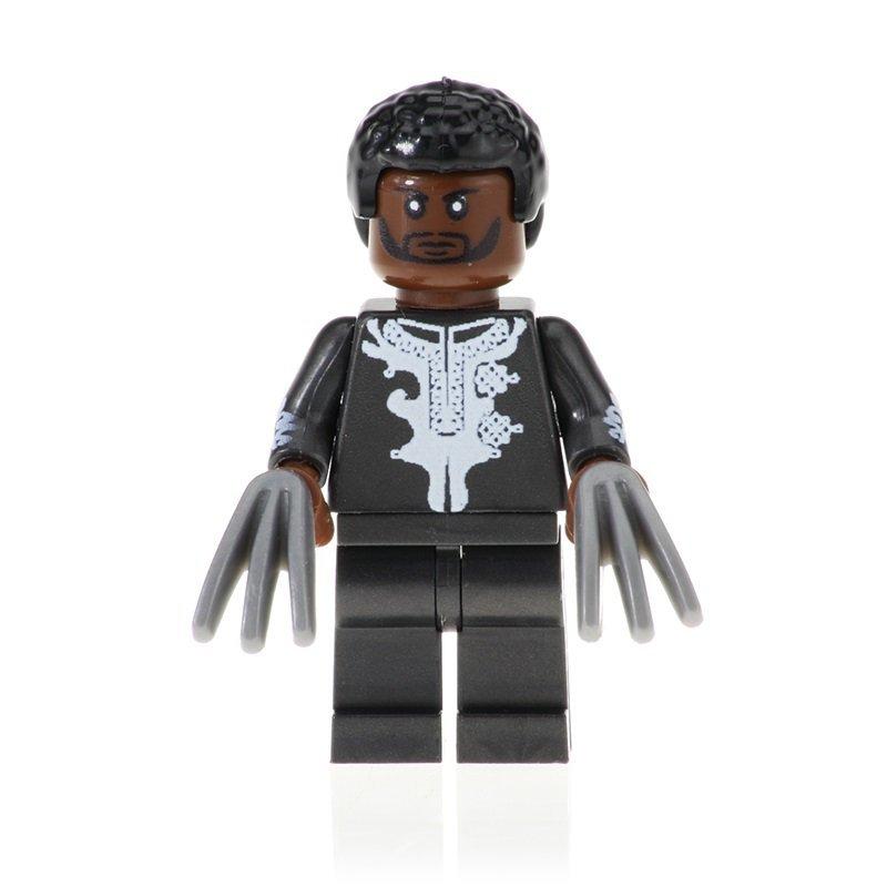 Minifigure T'challa Black Panther Marvel Super Heroes Building Lego Blocks Toys
