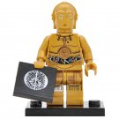 Minifigure C-3PO Protocol Droid Star Wars Building Lego Blocks Toys