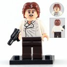 Minifigure Han Solo White-Brown Suit Star Wars Building Lego Blocks Toys