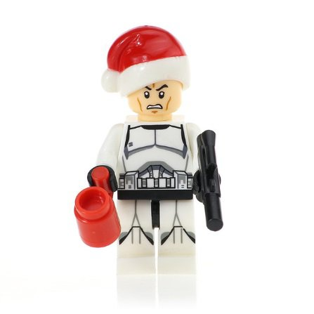 Minifigure Clone Trooper Christmas Santa Suit Star Wars Building Lego Blocks Toys