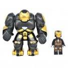2pcs Big Minifigure Black Hulkbuster with Iron Man Avengers Marvel Super Heroes Lego compatible