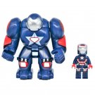 2pcs Big Minifigure Blue Hulkbuster with Iron Man Avengers Marvel Super Heroes Lego compatible Block