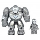 2pcs Big Minifigure Gray Hulkbuster with Iron Man Avengers Marvel Super Heroes Lego compatible Block