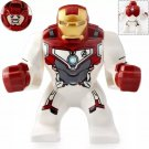 Big Minifigure Iron Man Quantum Suit Avengers EndGame Marvel Super Heroes Lego compatible Blocks