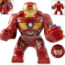 Big Minifigure Iron Man with Red Infinity Gauntlet Avengers Marvel Super Heroes Lego compatible