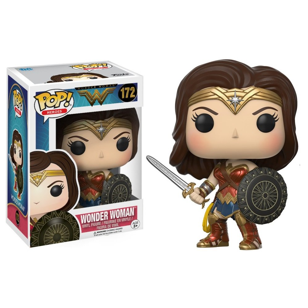 Funko POP! Wonder Woman (Sword and Shield) #172 DC Comics Super Heroes Vinyl Action Figure Toys