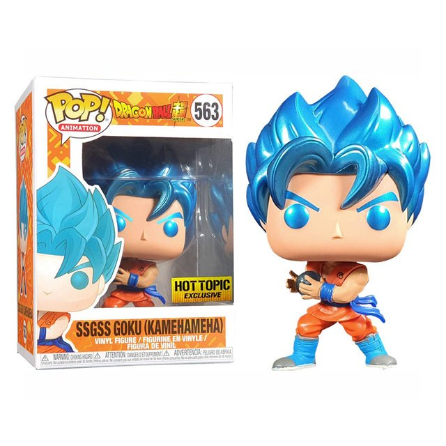 Funko POP! SSGSS Goku (Kamehameha) #563 Dragon Ball Z Vinyl Action Figure Toys
