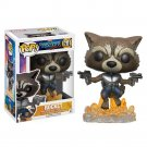 Funko POP! Rocket Raccoon #201 Guardians of the Galaxy Avengers Marvel Vinyl Action Figure Toys