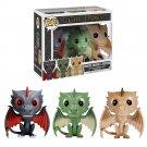 3pcs Pack Funko POP! Drogon, Rhaegal and Viserion Game of Thrones Vinyl Action Figure Toys