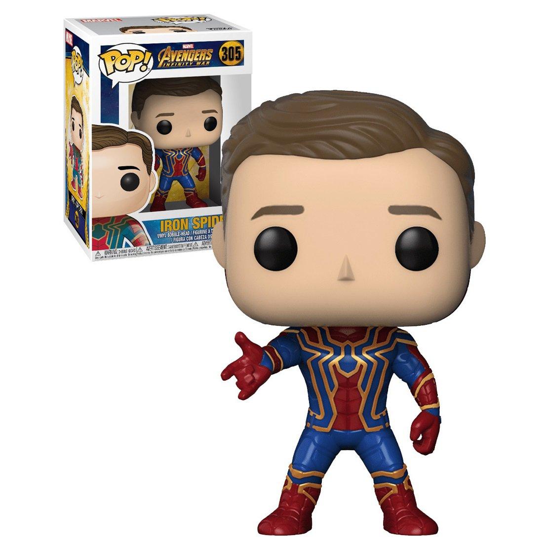 Funko POP! Iron Spider (Unmasked) #305 Avengers Infinity War Marvel Heroes Vinyl Action Figure Toys