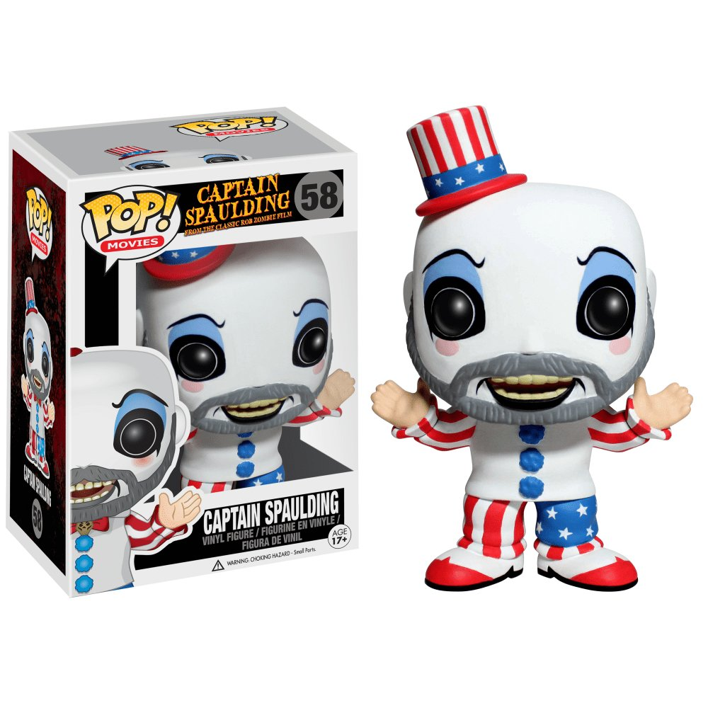 Funko POP! Captain Spaulding #58 Horror House of 1000 Corpses Rob Zombie Vinyl Action Figure Toys