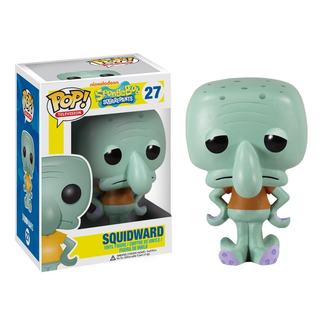 Funko POP! Squidward Tentacles #27 SpongeBob SquarePants Movie Nickelodeon Vinyl Action Figure Toys