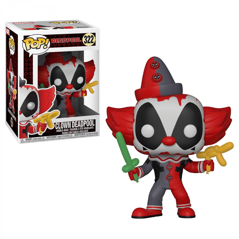 Funko POP! Clown Deadpool #322 Marvel Super Heroes Vinyl Action Figure Toys
