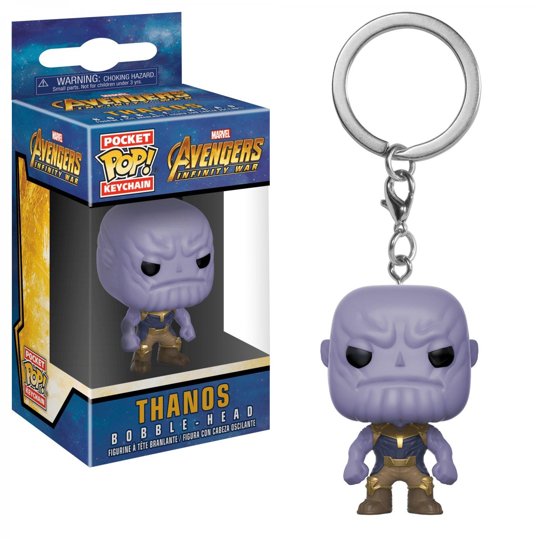 Thanos Funko POP! Infinity War Avengers Marvel Comics Super Heroes Keychain Vinyl Action Figure Toys