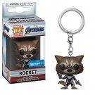 Rocket Raccoon Quantum Funko POP! EndGame Avengers Marvel Super Heroes Keychain Vinyl Action Figure