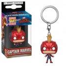 Captain Marvel Masked Funko POP! Marvel Comics Super Heroes Keychain Vinyl Action Figure Toys