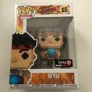 Ryu 8-bit Funko POP! #15 Street Figher Games GameStop Exclusive Vinyl Figure Toys