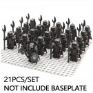 21pcs minifigures Chief + Shamans Uruk Hai Orcs Army Lord of The Rings Building Blocks Figures