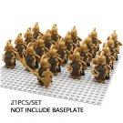 21pcs minifigures Captain + Archers Noldor Elves Lord of The Rings Building Blocks Figures