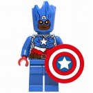 Captain America Groot Style Minifigure Marvel Super Heroes