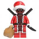 Deadpool Christmas Santa Minifigure Marvel Super Heroes