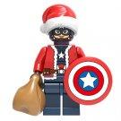 Captain America Christmas Santa Minifigure Marvel Super Heroes