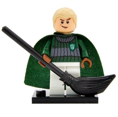 Draco Malfoy Slytherin Quidditch Team Minifigure Harry Potter