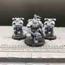 3pcs Obsidius Mallex Chaos Lord with Chaos Space Marine Warhammer Resin Models 1/32 Figures