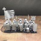 10pcs Men-at-Arms Bretonnia Militia Free Company Warhammer Fantasy Resin Models 1/32 Figures Games