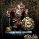 Khalgrim Storm Hammer Dwarf King WarGames Fantasy Resin Models 1/24 scale 35 mm Hobby Action Figure