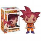 Funko POP! Goku (Super Saiyan God) #24 Dragon Ball Z Vinyl Action Figure Toys