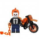 Minifigure Ghost Rider with Bike Motorcycle Marvel Super Heroes Building Lego compatible Blocks Toys