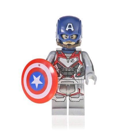 Minifigure Captain America Quantum Suit Avengers EndGame Marvel Super Heroes Lego Compatible Blocks