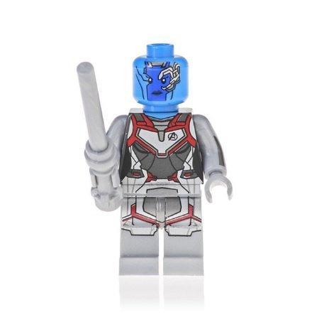 Minifigure Nebula Quantum Suit Avengers EndGame Marvel Super Heroes Building Lego Compatible Blocks