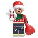 Minifigure Christmas Kid with Little Snowman Christmas Santa Building Lego compatible Blocks