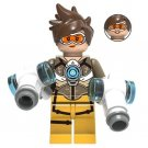 Tracer Minifigure Overwatch Game Lego compatible Blocks