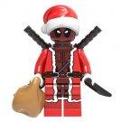 Deadpool Christmas Santa Minifigure Marvel Super Heroes Lego compatible Blocks