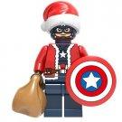 Captain America Christmas Santa Minifigure Marvel Super Heroes Lego compatible Blocks